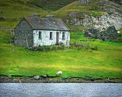 Connemara Digital Art - Stone Cottage by Vicki Lea Eggen