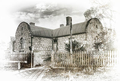 Print featuring the photograph Stone Cottage by Wayne Sherriff