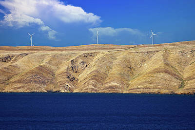 Photograph - Stone Desert Island Of Pag Wind Power Plants View by Brch Photography