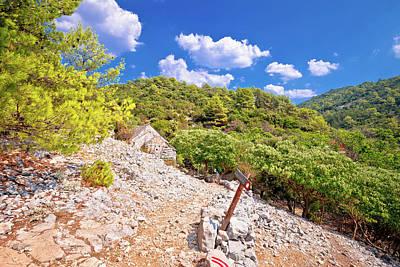 Photograph - Stone Desert Path Near Pustinja Blaca On Brac Island by Brch Photography