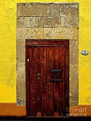 Stone Door In Yellow Art Print