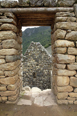 Photograph - Stone Doorway At Machu Picchu, Peru by Aidan Moran