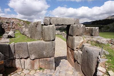 Photograph - Stone Doorway At Sacsaywaman by Aidan Moran