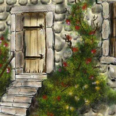 Digital Art - Stone Doorway by Darren Cannell