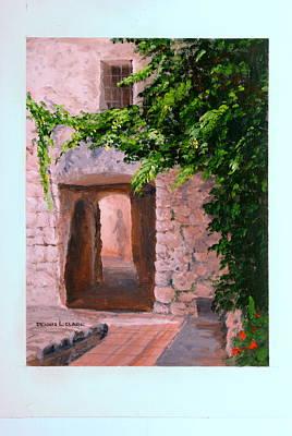 Painting - Stone Doorway by Dennis Clark