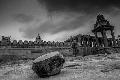 Photograph - Stone Drum  by Ramabhadran Thirupattur