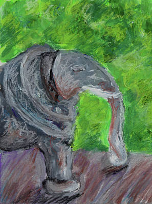 Painting - Stone Elephant by Jennifer Phillip