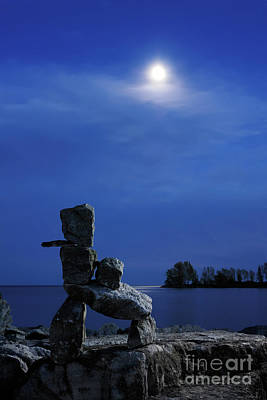 Ontario Photograph - Stone Figure In Moonlight by Oleksiy Maksymenko