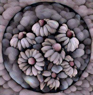 Digital Art - Stone Flowers by Megan Walsh