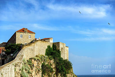 Photograph - Stone Fortified City Walls Of Dubrovnik, Croatia by Global Light Photography - Nicole Leffer