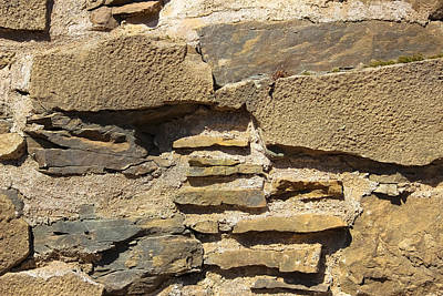 Photograph - Stone Foundation - Abstract by Colleen Kammerer