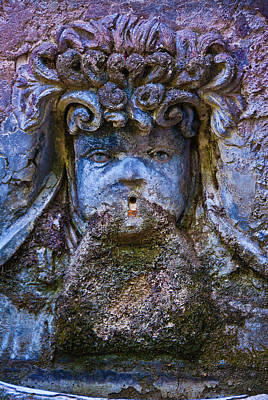 Photograph - Stone Fountain by Harry Spitz
