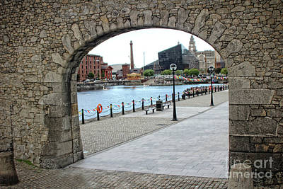 Photograph - Stone Gable And Arch Entrance To Salthouse Dock, Liverpool, Mers by Doc Braham