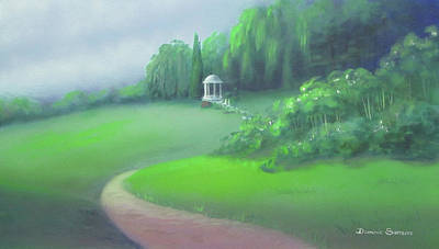 Painting - Stone Gazebo by Dominic Sanson