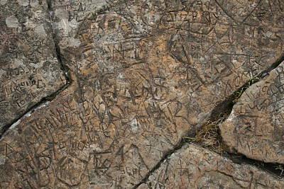 Photograph - Stone Graffiti by Dylan Punke