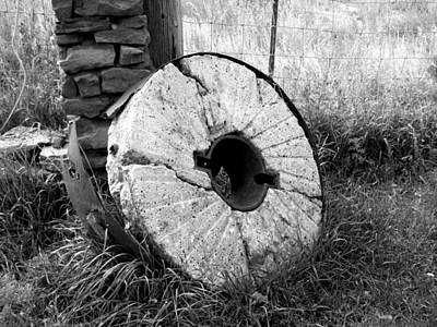 Photograph - The Old Stone Grinding Wheel by Jeannie Bushman