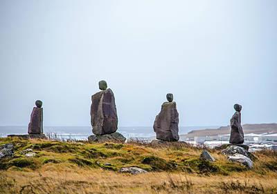 Photograph - Stone Guardians Reykjanes Peninsula Iceland by Deborah Smolinske