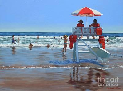 Patrol Painting - Stone Harbor Beach Patrol by Elisabeth Olver