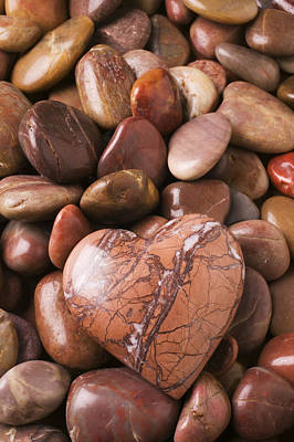 Stone Heart Print by Garry Gay