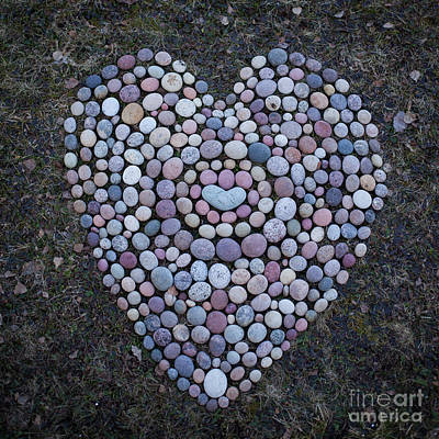 Mixed Media - Stone Heart by Pontus Jansson