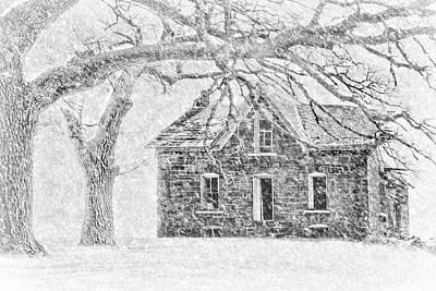 Photograph - Stone House - Winter by Nikolyn McDonald