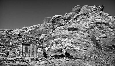 Photograph - Stone Hut In Black And White by Pedro Cardona