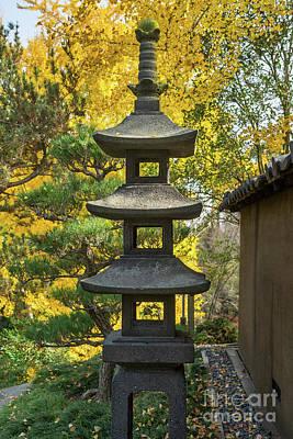 Stone Lantern Fall Print by Jamie Pham
