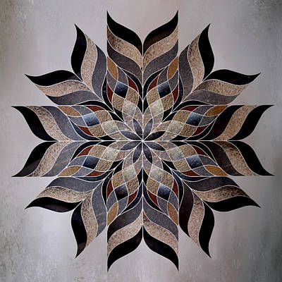 Repeat Digital Art - Stone Mandala by Terry Davis