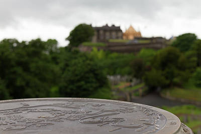 Old Photograph - Stone Map And Stirling Castle by Iordanis Pallikaras