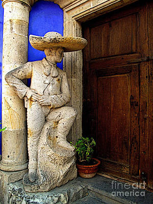 Tlaquepaque Photograph - Stone Mariachi by Mexicolors Art Photography