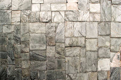Photograph - Stone Masonry Wall by John Williams