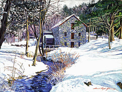 Nostalgia Painting - Stone Mill by David Lloyd Glover