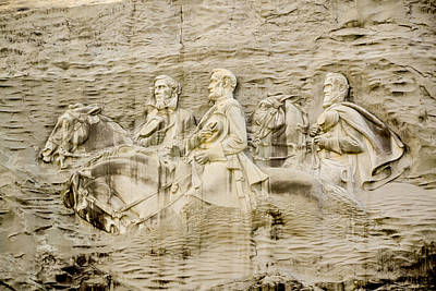 The General Lee Digital Art - Stone Mountain Carving 2 by Rebecca Stowers