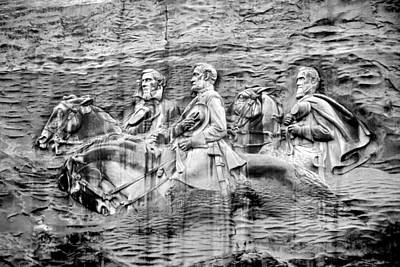 The General Lee Digital Art - Stone Mountain Carving 3 by Rebecca Stowers