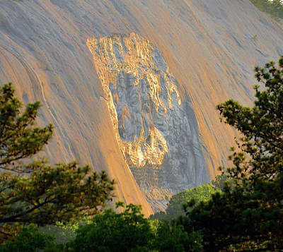 Photograph - Stone Mountain Carving by David Lee Thompson