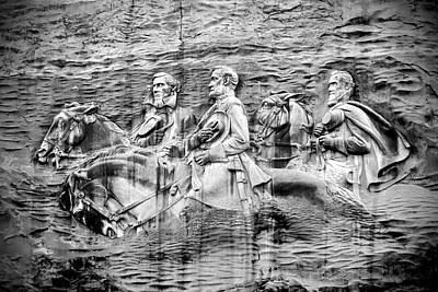 The General Lee Digital Art - Stone Mountain Carving by Rebecca Stowers