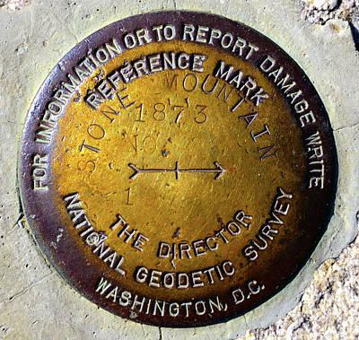 Photograph - Stone Mt Geo Marker by David Lee Thompson