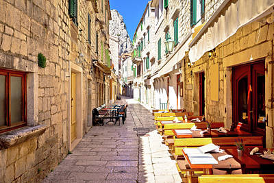 Photograph - Stone Narrow Mediterranean Street Of Omis by Brch Photography