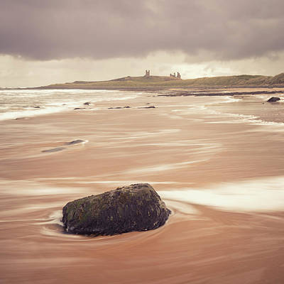 Photograph - Stone On The Beach - Dunstanburgh Castle by Kelvin Trundle