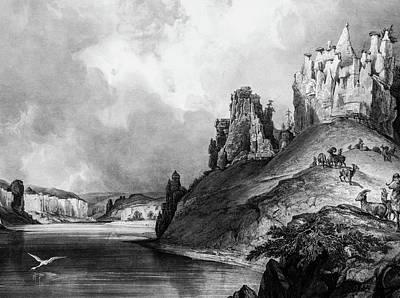 1833 Photograph - Stone Outcroppings Upper Misouri by Douglas Barnett