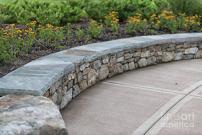 Photograph - Stone Park Bench by Dale Powell