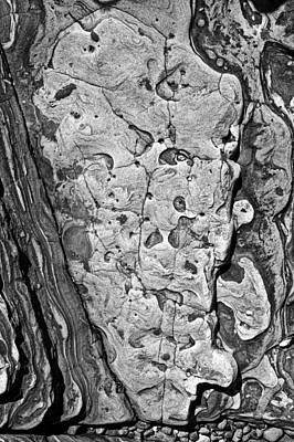 Point Lobos Photograph - Stone Patterns Rock Map by Garry Gay