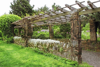 Photograph - Stone Pergola Of Wave Hill by Jessica Jenney