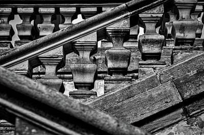 Photograph - Stone Pillar Stairway by Stuart Litoff