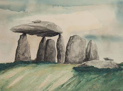 Painting - Stone Pillars by Bryan Bustard