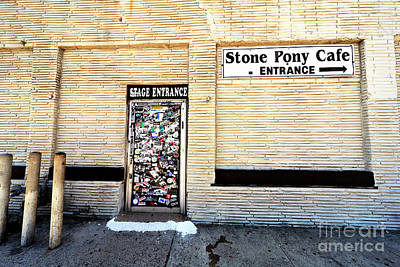 Photograph - Stone Pony Stage Entrance by John Rizzuto