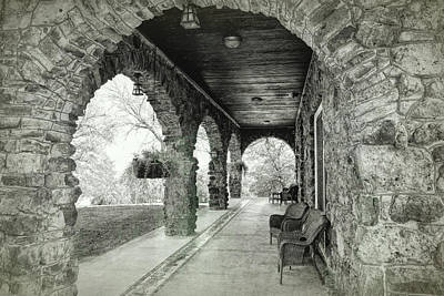 Photograph - Stone Porch Pawnee Bill Ranch by Ann Powell