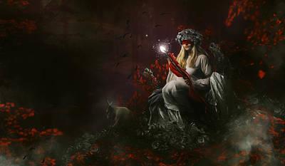 Digital Art Rights Managed Images - Stone Roses Royalty-Free Image by Karen Koski