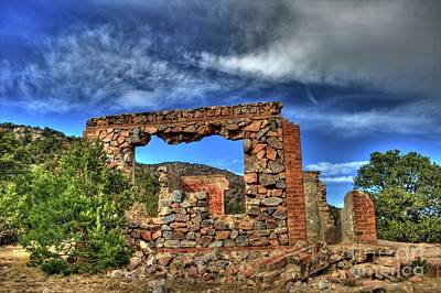 Photograph - Stone Ruins by Tony Baca