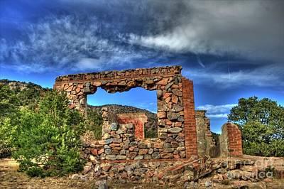Photograph - Stone Ruins by Tony Baca
